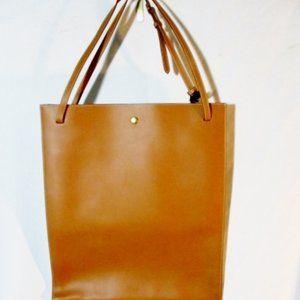 NEW CELINE SINGLE TAN BROWN Leather Tote Shopper